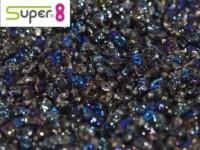 Super8®-Beads 2,2x4,7mm Crystal Azuro ca 10 g