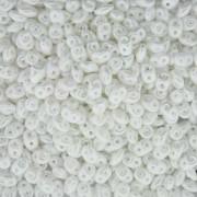 SuperDuo Perlen 2,5x5mm Pastel White DU0525001-110 ca 24gr