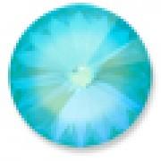Swarovski Elements Stein Rivoli 14mm Ultra Turquoise AB beschichtet 6 Stück