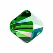 Swarovski Elements Perlen Bicones 3mm Dark Moss Green AB beschichtet 50 Stück