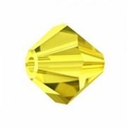 Swarovski Elements Perlen Bicones 4mm Citrine 50 Stück