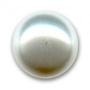 Swarovski Elements Perlen Crystal Pearls 6mm White Pearls halb gebohrt flach 10 Stück