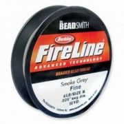 Fireline 0,12mm 4LB 50 yard Spule smokegrey