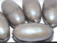 Paper Mache Bead Olive 40x18 mm Med Brown