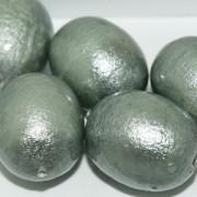 Paper Mache Bead Olive 24x18 mm Jeansblue 1Stück