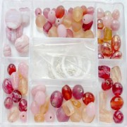 Glasperlen Mix L rose