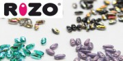 Glasperlen Rizo Beads