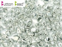 Button Beads 4mm Crystal Full Labrador ca 50 Stück