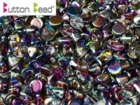 Button Beads 4mm Crystal Magic Blue ca 50 Stück