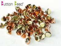 Button Beads 4mm Crystal California Gold Rush ca 50 Stück