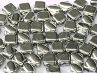 Silky Beads 2-hole 6 x 6 mm Crystal Labrador Full ca 50Stck