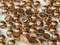 2-hole Cabochon 6 mm Crystal Full Capri Gold 25 Stück
