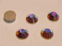 Swarovski Elements Steine Flatback Xilion Crystal AB F  10 Stück