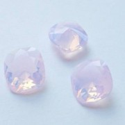 Swarovski Elements Cabochons carres 12mm Rose Water Opal