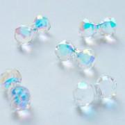 Swarovski Elements Perlen Modular Beads 11x6mm Crystal AB beschichtet 4 Stück