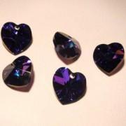 Swarovski Elements Anhänger Herzen 10mm Crystal Heliotrope 12 Stck