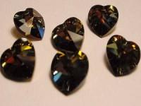 Swarovski Elements Anhänger Herzen 10mm Crystal Tabac *TAB beschichtet* 12 Stck