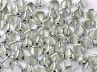 Pinch Beads 5x3mm Aluminium Silver 50 Stück