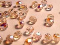 Glasschliffperlen 3mm Rosenquarz 100 Stück