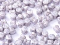 Pellet Beads 4x6mm Chalk White Alabaster Terracotta  50 Stück
