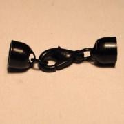 Schmuckverschluss 5mm schwarz nickelfrei