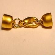 Schmuckverschluss 5mm goldfarben nickelfrei