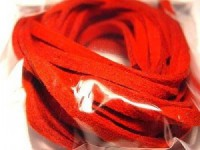 Micro-Wildlederband 3mm rot