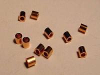Quetschperlen kupferfarben 2x2mm 50 Stück im Beutel