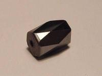 Magnetperle Hämatit facetiert oval 5x8 mm 10 Stück