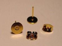 Ohrstecker mit Platte 6mm goldfarben 1 Paar