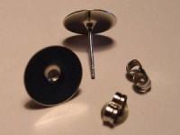 Ohrstecker mit Platte 10mm silberfarben 1 Paar