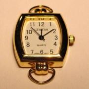 Uhrengehäuse eckig goldfarben für Wechselarmbänder