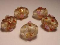 Glasperlen Oval 11x13mm Crystal