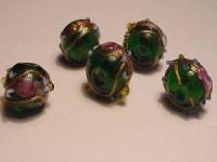 Glasperlen Rund 8-10mm Emerald