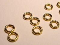 Ring geschlossen 5x1mm 925 Silber vergoldet 1 Stück