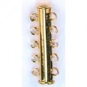 Magnetschließe 5 reihig vergoldet 1 Stück