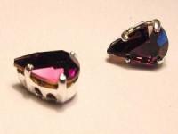 Swarovski Elements Steine im Aufnähkessel mit 4 Löchern 8x5mm Amethyst