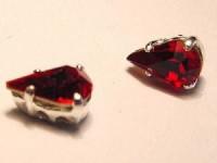 Swarovski Elements Steine im Aufnähkessel mit 4 Löchern 8x5mm Siam