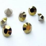 Swarovski Elements Chaton Steine SS39 Crystal Dorado foiled