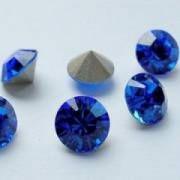 Swarovski Elements Chaton Steine SS39 Sapphire foiled