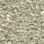 Miyuki Würfel Beads, Cube, Square Beads 1,8mm 1051 Galvanized Silver 12gr