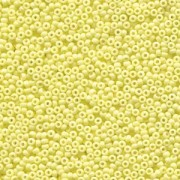 Miyuki Rocailles Beads 1,5mm 4451 Duracoat opaque dyed Pale Yellow ca 11gr