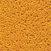 Miyuki Rocailles Beads 2mm 4453 Duracoat opaque dyed Yellow ca 12gr