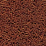 Miyuki Rocailles Beads 1,5mm 4459 Duracoat opaque dyed Brown ca 11gr