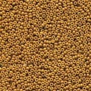Miyuki Rocailles Beads 2mm 4460 Duracoat opaque dyed Yello Olive ca 12gr