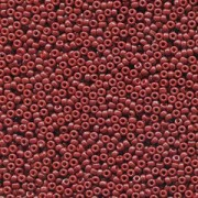 Miyuki Rocailles Beads 2mm 4469 Duracoat opaque dyed Red ca 12gr