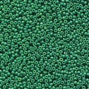 Miyuki Rocailles Beads 2mm 4477 Duracoat opaque dyed Deep Green ca 12gr