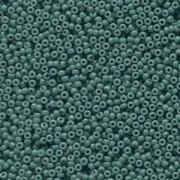 Miyuki Rocailles Beads 2mm 4481 Duracoat opaque dyed Blue Grey ca 12gr