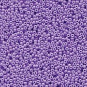 Miyuki Rocailles Beads 1,5mm 4488 Duracoat opaque dyed Pale Purple ca 11gr
