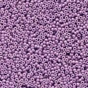 Miyuki Rocailles Beads 2mm 4489 Duracoat opaque dyed Purple ca 12gr